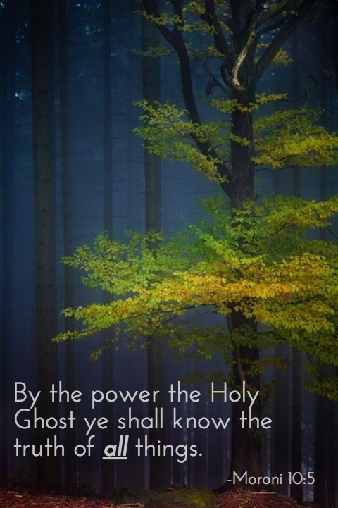 Power of the Holy Ghost Moroni 10:5
