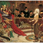 Abinadi calls corrupt King Noah to repentance