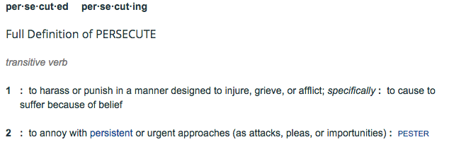 """Definition of """"Persecute"""""""